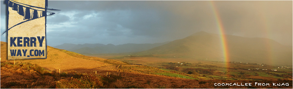 Rainbow over Coomcallee on the Kerry Way