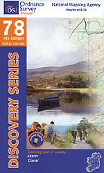 Os Map Of Ireland.Map 78 Publications Kerry Way