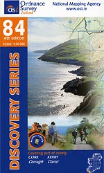Os Map Of Ireland.Map 84 Publications Kerry Way